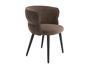 3D model POTOCCO COULISSE ARMCHAIR from brown suede