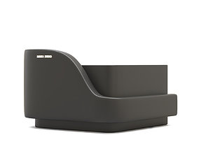 Modern Reception Desk Design By Buerta Studio 3D model