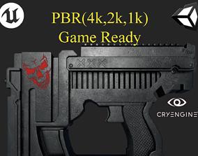 Sci Fi Gun PBR Game Ready Asset Weapon Model game-ready 1