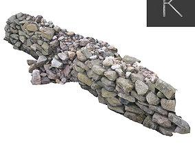 Stone Wall 3D asset
