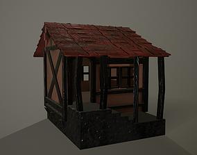 Medieval House mediavel 3D asset VR / AR ready