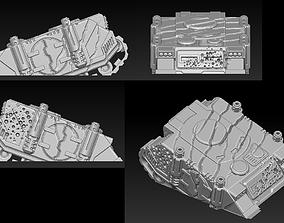 3D print model EPIC - ARMAGEDDON SET 1 CRUSHED VEHICLES