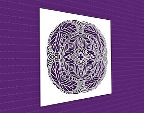 Mandala 3D model decor lasercut