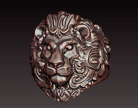 fierce 3D Lion ring filigree