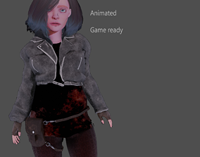 animated Game ready stylised 3d model with 41 animations