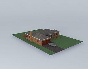 3D model Medium Sized Ranch House