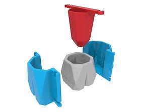 3D Molde para maceta de concreto 1