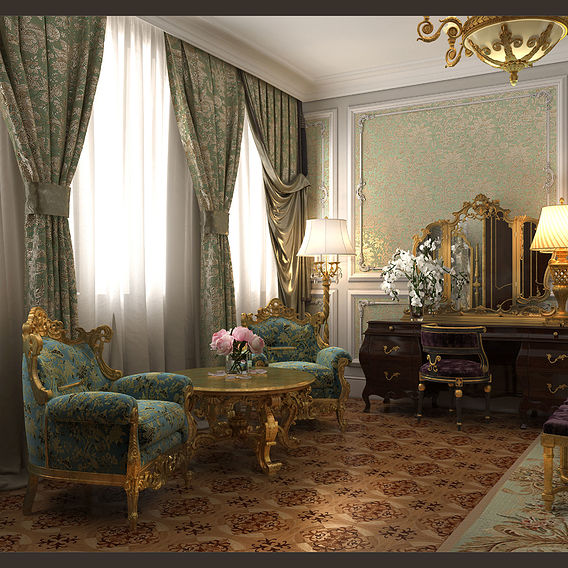 """Lux Apartments  of The Palace Park Ensemble """"Maryino"""" of Prince Bariatinsky"""