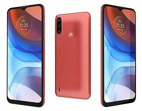 3D Motorola Moto E7i Power Coral Red