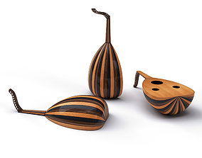 Moroccan lute traditional music culture 3D