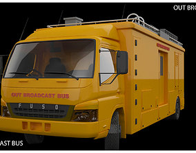 Out Broadcasting Bus 3D asset