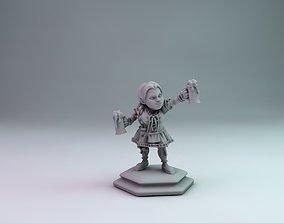 3D printable model dwarf girl
