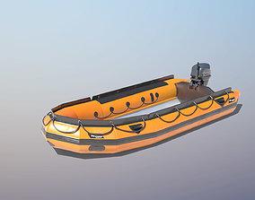 3D model Lifeguard Rescue Boat