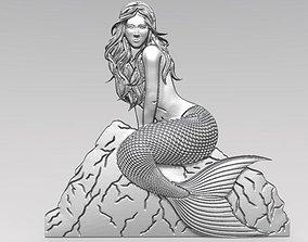 3D printable model Mermaid 2 bas-relief CNC