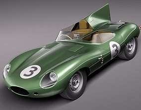 Jaguar D Type Longnose 1954 3D Model
