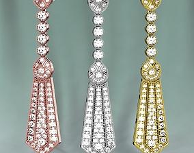 3D print model Golden Diamonds Earrings