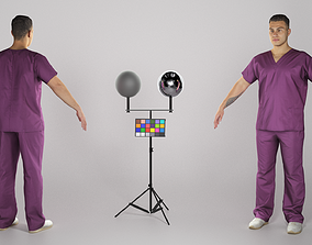 3D asset Handsome young doctor in A-pose 315