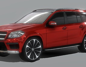 Mercedes-Benz GL Series Luxury SUV 3D Model low-poly