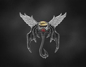 angle demon wings pendant for 3d printing 3D print model