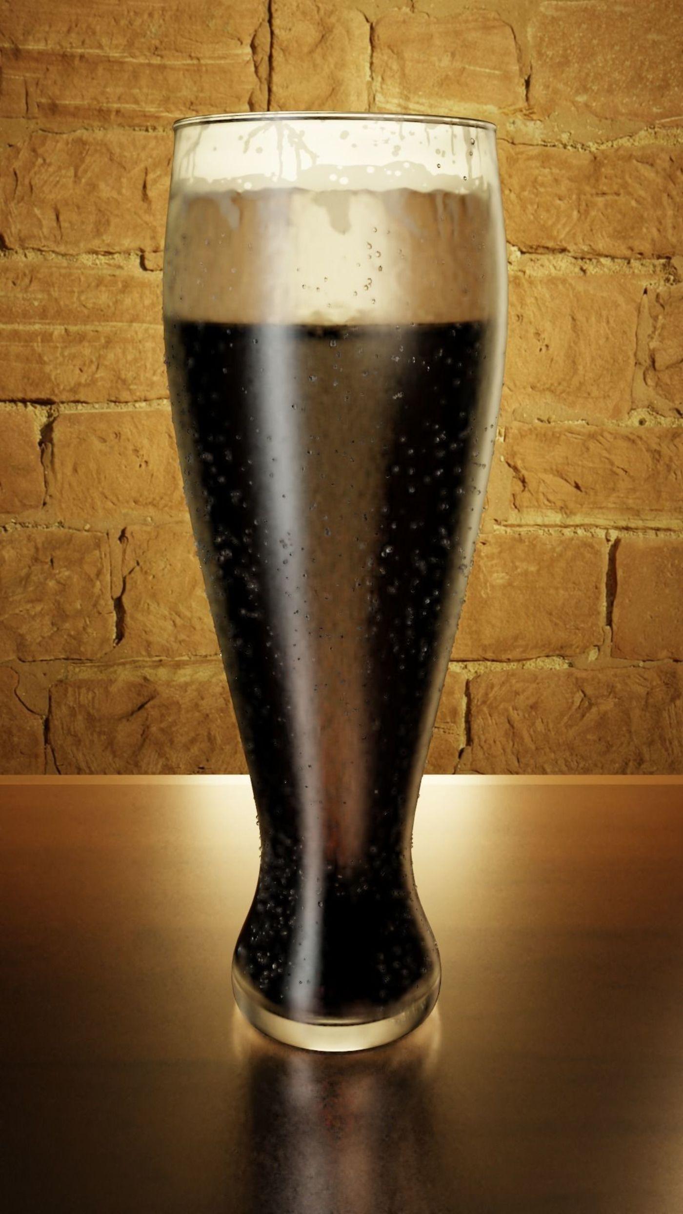 3D beer glass render