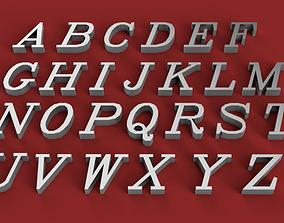 ITALIC font uppercase and lowercase 3D Letters STL FILE