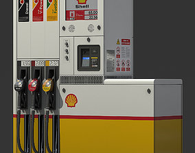 3D model Fuel dispenser Shell Tokheim Quantium