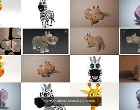 Cartoon african animals 3D