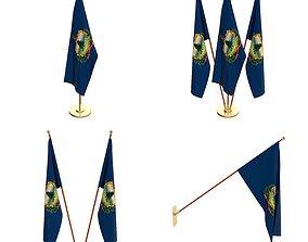 3D Vermont Flag Pack