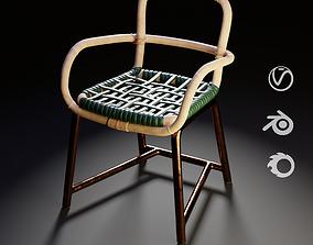Baxter Manila Chair Green 3D model