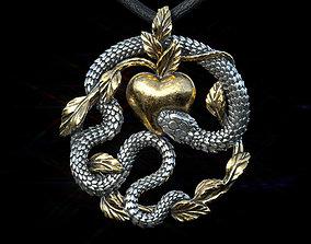 The serpent tempter Pendant 3D printable model