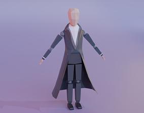 3D model Low Poly Detective