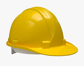 Worker Safety Helmet - Yellow Hard Hat 3D model