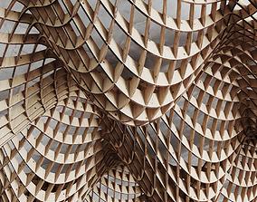 Parametric cage ceiling 3D