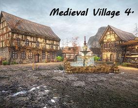 3D model Medieval Village 4