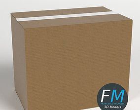 Cardboard box closed 3D