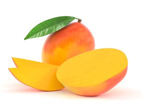 organic 3D model Mango Fruit