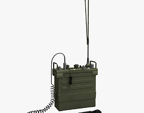 3D model Radio PCR-77 with Microphone