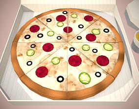 3D asset Stylized Pizza PBR