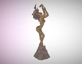 3D asset Fire Goddess Statue