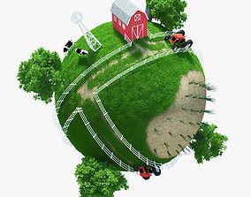 3D model Planet Farm 02