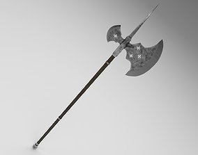 Medieval halberd 2 3D asset