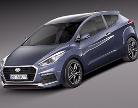Hyundai i30 Turbo 3-door 2015 corean 3D model