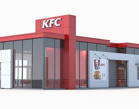 KFC restaurant 3 3D