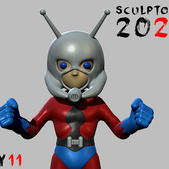 Sculptober Day 11 Ant Man