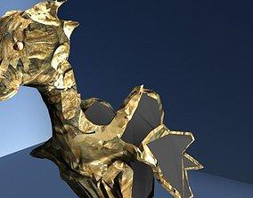 3D asset Sea Horse Rock Dragon Sculpt x Low Poly