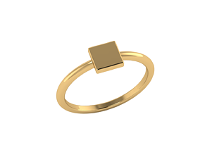Minimalistic geometrical simple square 3D printable model