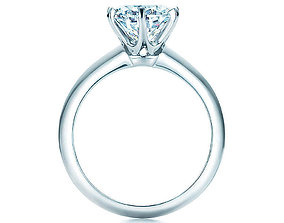 engagement ring tiffany 3D print model