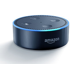Amazon Echo Dot black smart speaker 3D model