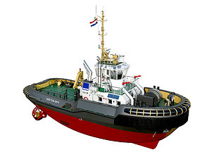 Tugboat ASD 2810 3D model