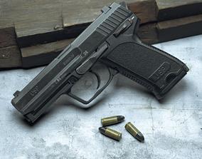 3D asset Game ready model USP 9mmx19